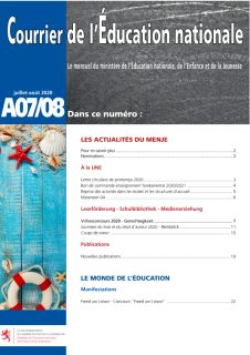 Courrier de l'Éducation nationale 07-08/2020