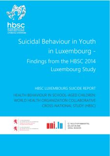 Health behaviour in school-aged children: Suicidal behaviour in youth in Luxembourg - Findings from the HBSC 2014 Luxembourg study