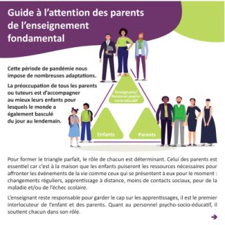 Guide à l'attention des parents de l'enseignement fondamental (COVID-19)